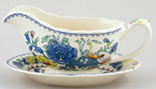 Masons Regency colour Sauce Boat and Stand