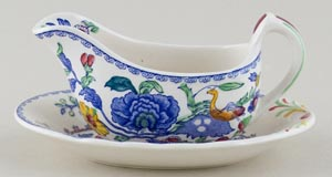 Masons Regency colour Small Sauce Boat and Stand