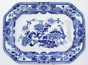 Meat Dish or Platter with Tree and Well c1900