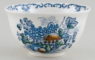 Masons Fruit Basket blue with colour Sugar Bowl