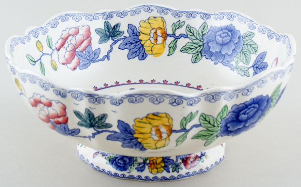 Masons Regency colour Bowl large footed