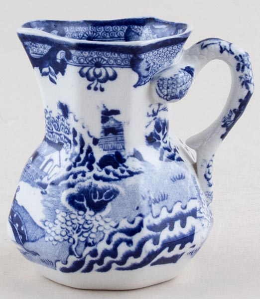 Masons Blue Chinese Landscape Jug or Creamer c1920s