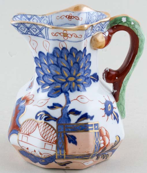 Masons Jardiniere colour Jug or Creamer octagonal c1898