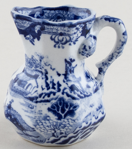 Masons Blue Chinese Landscape Jug or Creamer c1900