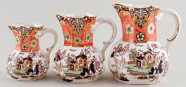 Jugs or Pitchers Set of Three c1997