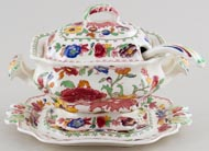 Masons Regency pink with colour Sauce Tureen Bedfprd