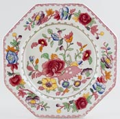 Masons Regency pink with colour Plate