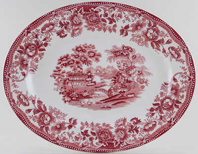 Meakin Alfred Tonquin pink Meat Dish or Platter c1960s