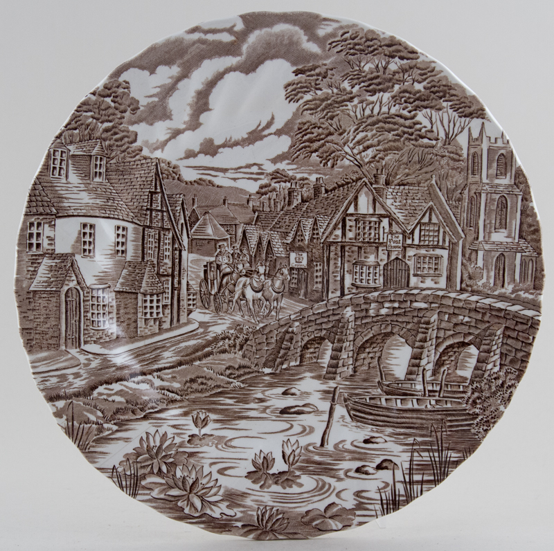 Meakin Alfred The Post House brown Plate c1970s