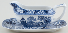 Midwinter Oriental Garden Sauce Boat with Stand c1960s