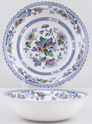 Midwinter Windsor blue with colour Bowl c1950s