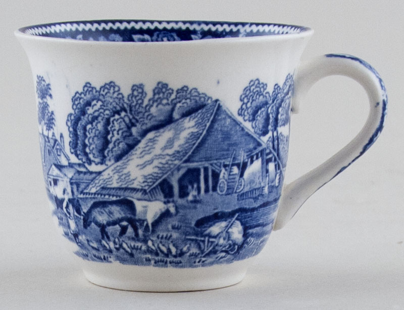 Midwinter Rural England Coffee Cup c1930s