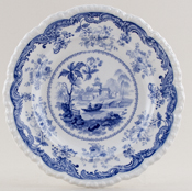 Minton Chinese Marine Side or Cheese Plate c1830
