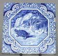 Tile The Hare and the Tortoise c1870s