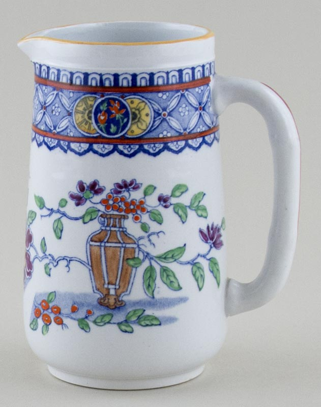 Minton Unidentified Pattern blue with colour Jug or Creamer c1930s