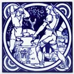 Tile The Smith c1880