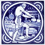 Tile The Potter c1880