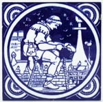 Minton Industrial Tile The Plumber c1880