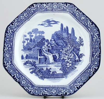Unattributed Maker Georgian Plate c1920s