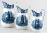 Jugs or Pitchers Set of Three c1875