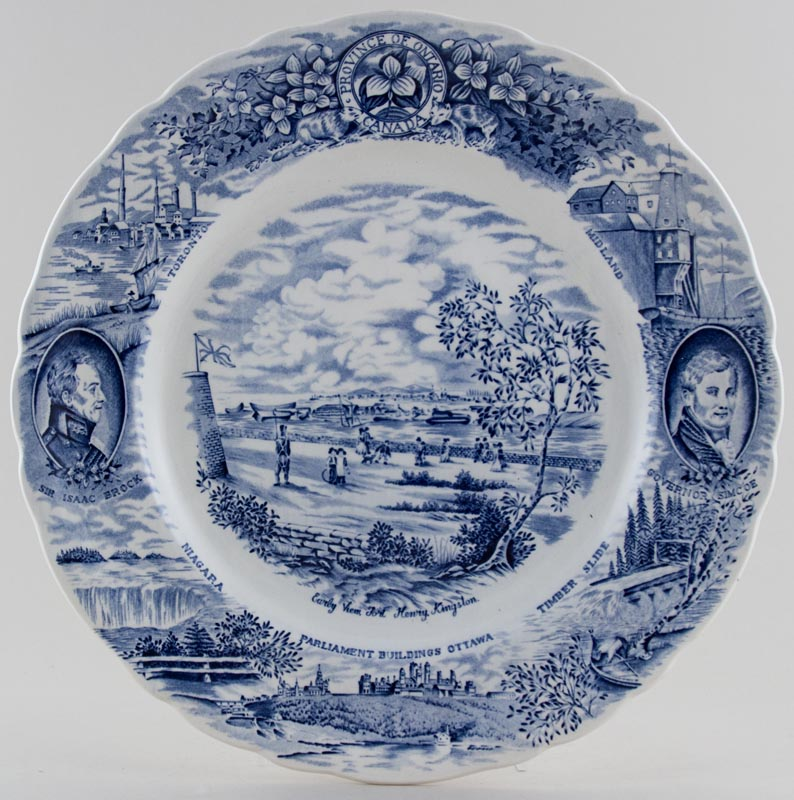 Unattributed Maker Canadian Historical Series Plate Fort Henry Kingston c1970s