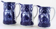 Jugs set of 3 c1900