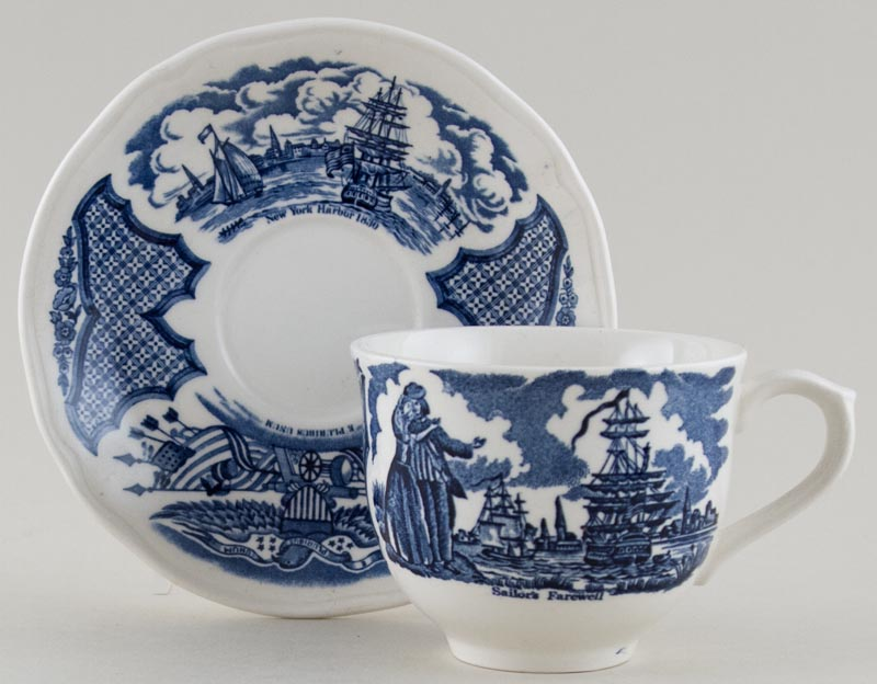 Unattributed Maker American Commemorative Teacup and Saucer c1970s