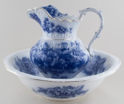 Ewer and Bowl c1900