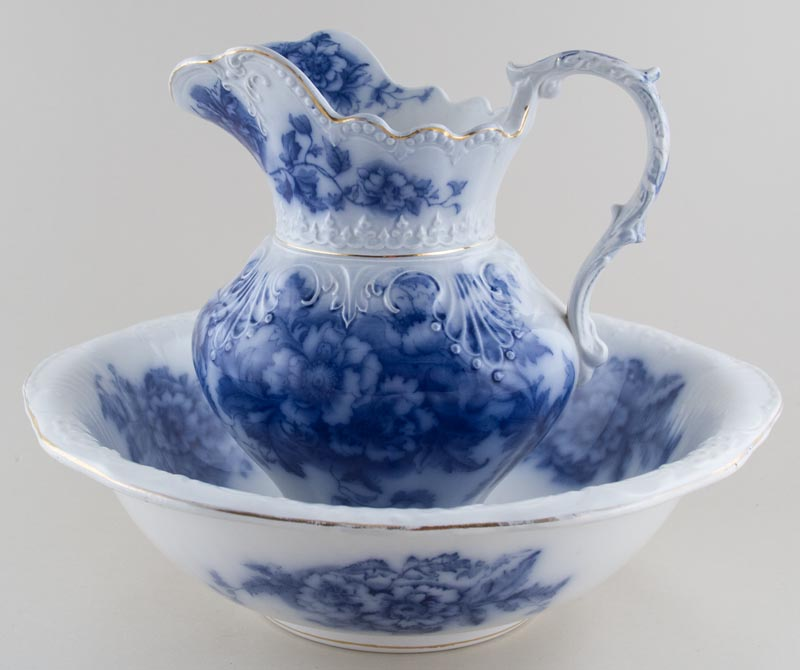 Myott Oriel Ewer and Bowl c1900