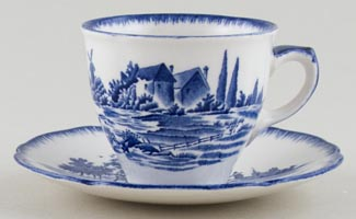 Royal Doulton Norfolk Coffee Cup and Saucer c1950s
