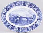 Meat Dish or Platter Windsor Bridge c1950s