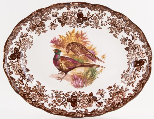Palissy Game Series brown with colour Meat Dish or Platter c1960s or 1970s