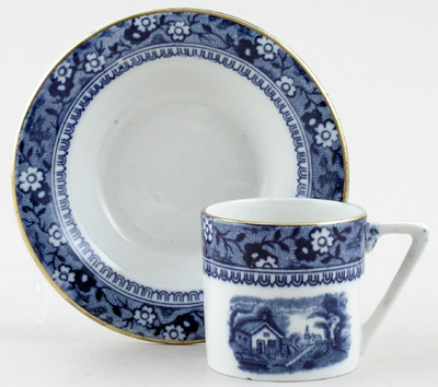 Palissy Ivanhoe Coffee Cup and Saucer c1950s