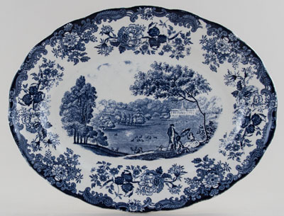 Palissy Avon Scenes Platter or Steak Plate