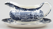 Palissy Avon Scenes Sauce Boat with Fixed Stand