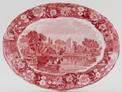 Palissy Thames River Scenes pink Stand Cookham