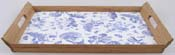 Portmeirion Botanic Blue Tray bamboo and melamine