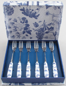 Portmeirion Botanic Blue Forks Pastry Set of Six