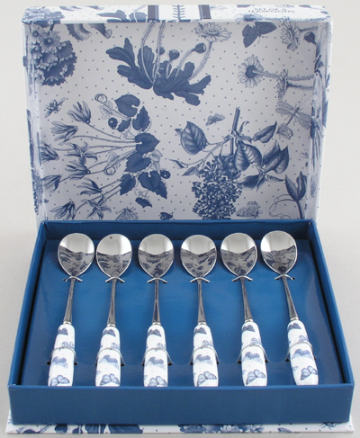 Portmeirion Botanic Blue Tea Spoons Set of Six