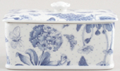 Portmeirion Botanic Blue Butter Dish with Cover
