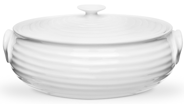 Portmeirion Sophie Conran White Oval Casserole small