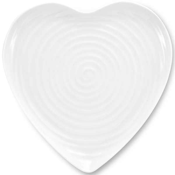 Portmeirion Sophie Conran White Lunch Plate heart