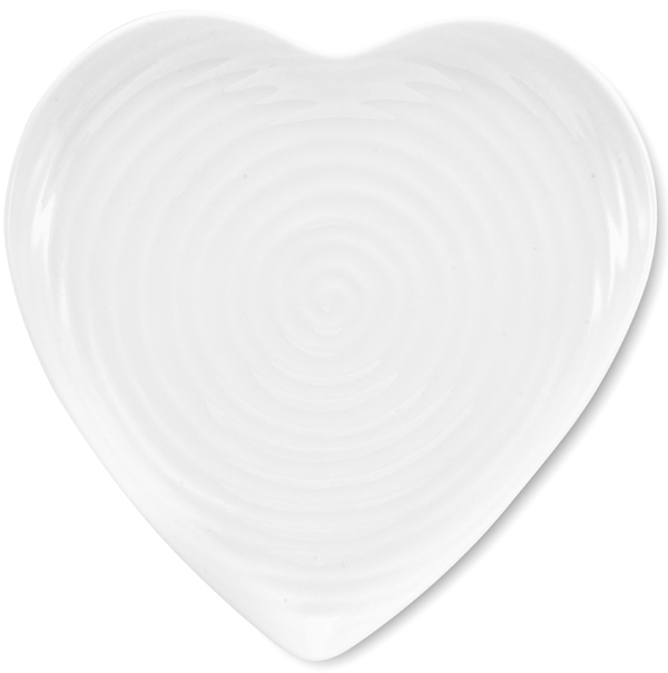 Portmeirion Sophie Conran White Side or Cheese Plate heart