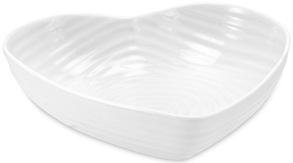 Portmeirion Sophie Conran White Bowl heart