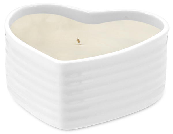 Portmeirion Sophie Conran White Heart Candle