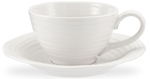 Portmeirion Sophie Conran White Cup & Saucer Jumbo
