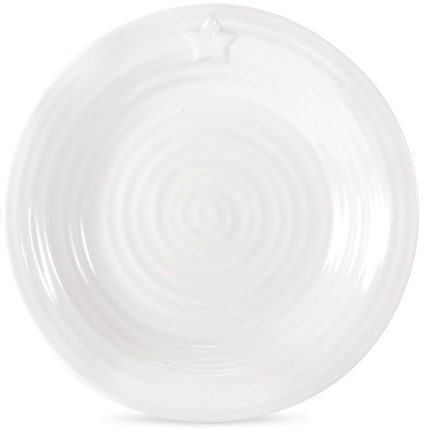 Portmeirion Sophie Conran White Side or Cheese Plate star