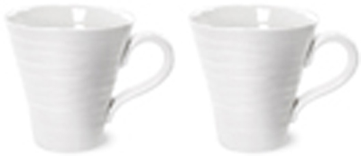 Portmeirion Sophie Conran White Mugs Set of Two