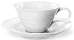 Portmeirion Sophie Conran White Teacup and Saucer