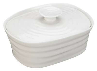 Portmeirion Sophie Conran White Butter Dish With Cover